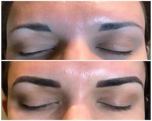 color shape brow correction