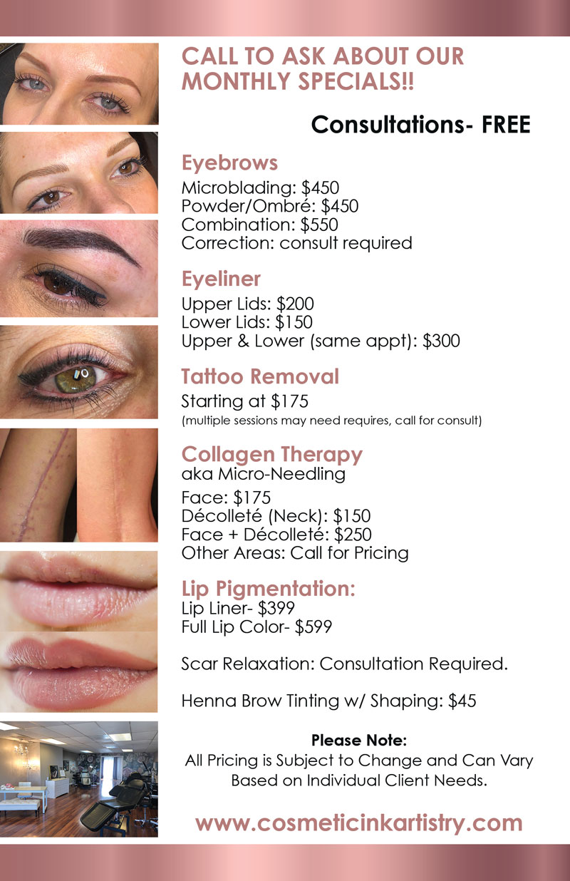 Cosmetic Ink Artistry Huntington Beach Pricing